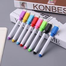 8 Colors Erasable Magnetic Whiteboard Marker Pen Blackboard Marker Glass Ceramics Office School Art Marker Stationery Supplies