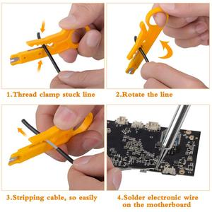 Image 5 - JCD soldering iron kit LCD Adjustable Temperature 110V 220V 80W soldering Rework tools solder iron tips wires Pump Heater stand