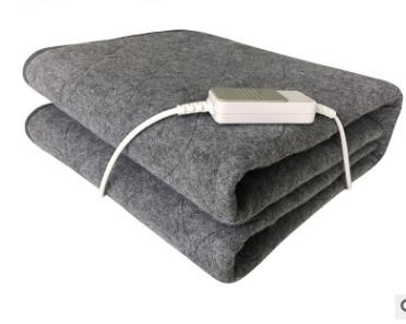 60w Non-woven Fabric Electric Heated Blanket Throw Over Under Bed Warm