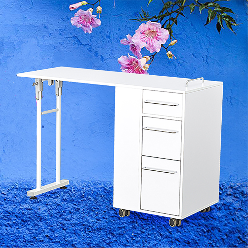 Beauty Nail Manicure Desk Removable Styling Stations Durable Manicure Table Foldable Furniture Salon Table Spa Nail Equpiment