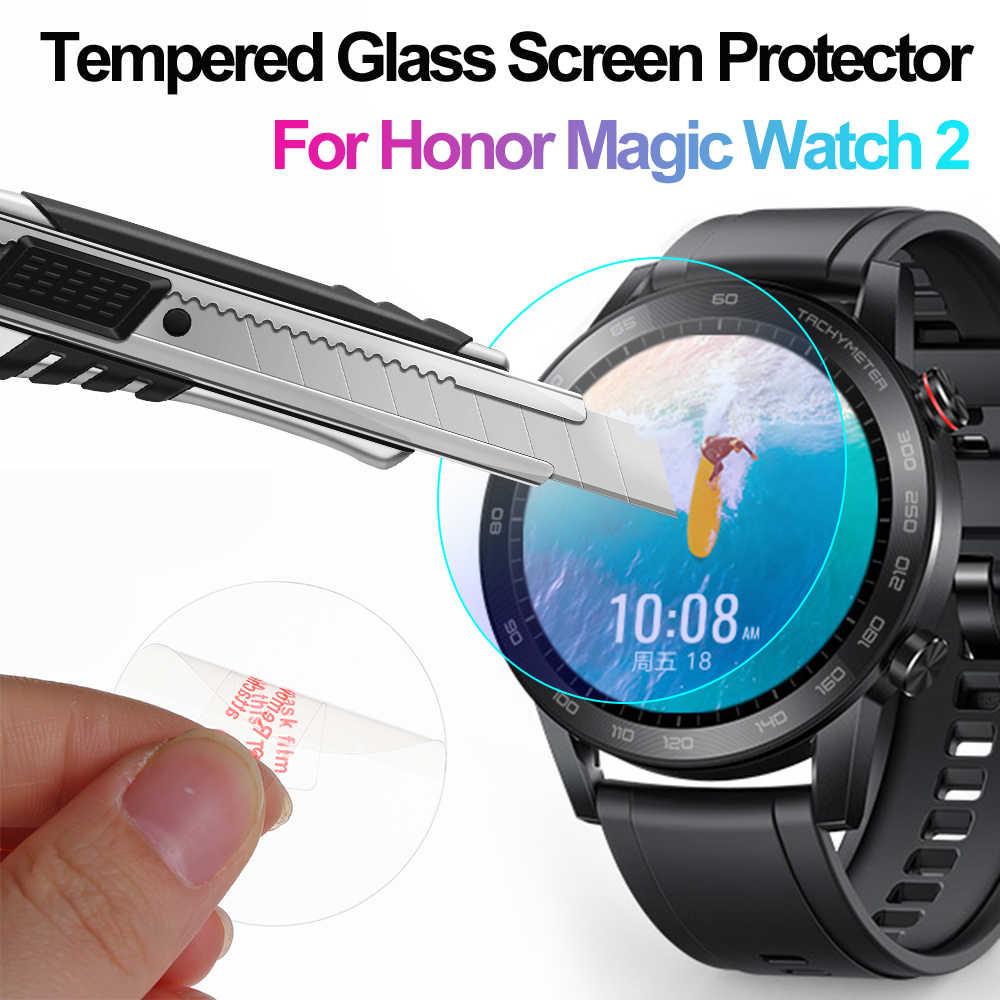 Protector de pantalla de vidrio templado con borde curvado 3D para Huawei Honor Magic Watch 2 46mm Protector de pantalla LCD Protector de pantalla