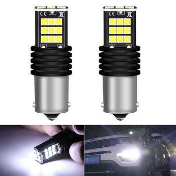 2Pcs P21W 1156 BA15S Super Bright LED Auto Tail Brake Bulb Daytime Running Lights for BMW E46 E36 E39 E60 E90 E91 E92 G30 E87 E8 image