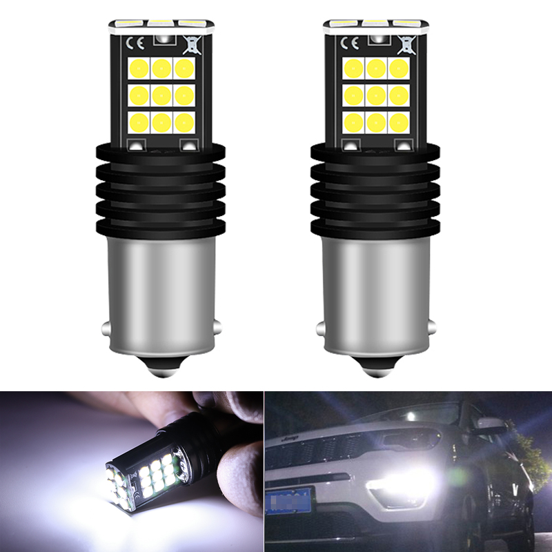 2Pcs P21W 1156 BA15S Super Bright <font><b>LED</b></font> Auto Tail Brake Bulb Daytime Running Lights for BMW E46 <font><b>E36</b></font> E39 E60 E90 E91 E92 G30 E87 E8 image