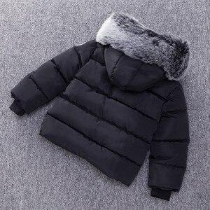 Image 4 - Baby Boys Jacket Fashion Autumn Winter Jacket Coat Kids Warm Thick Hooded Children Outerwear Coat Toddler Boy Girls Clothing