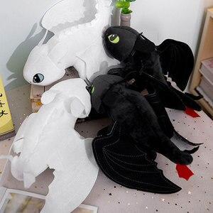 Image 5 - 15 60cm ejderhanı nasıl eğitirsin dişsiz ışık Fury oyuncak Anime figürü gece Fury ejderha peluş oyuncak bebekler oyuncaklar çocuklar çocuklar için