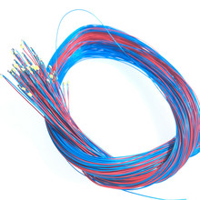 100 adet/grup 0402 0603 0805 1206 SMD Model tren HO N OO ölçek önceden lehimli mikro Litz kablolu LED kurşun teller 20cm