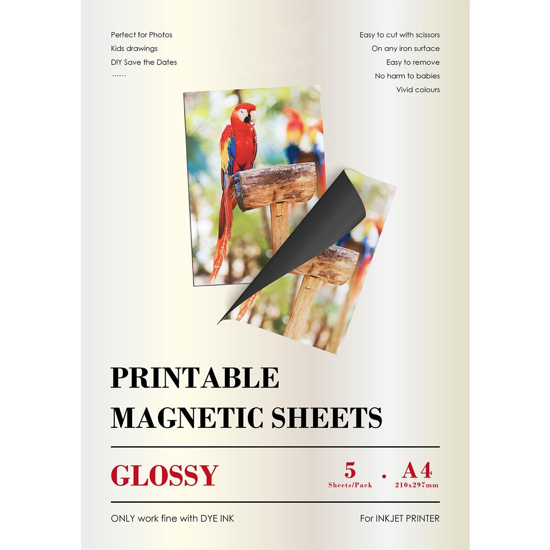 A4 Glossy Magnetic Inkjet Sticker Photo Paper For Inkjet Printer