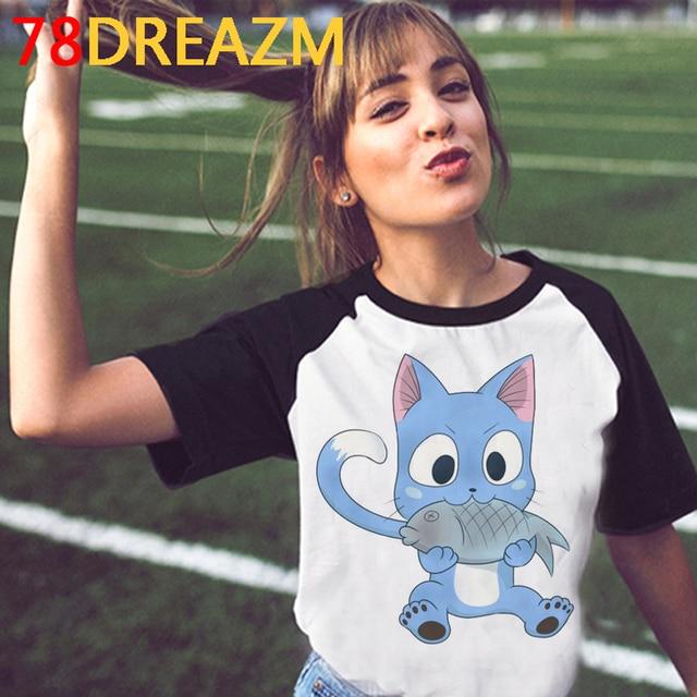 New Japanese Anime Fairy Tail T Shirt Women Kawaii Hip Hop Summer Tops Cartoon Graphic Tees Unisex Manga Harajuku T-shirt Female 5