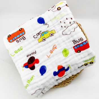 cotton baby bath towel cars