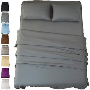 Bed Sheet Set Super Soft Microfiber 1800 Thread Count Luxury Egyptian Sheets Deep Pocket Wrinkle and Hypoallergenic