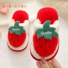 Baby Slippers Floor-Shoes Plush Girls Winter Princess Bamilong-Newest Children's Cartoon