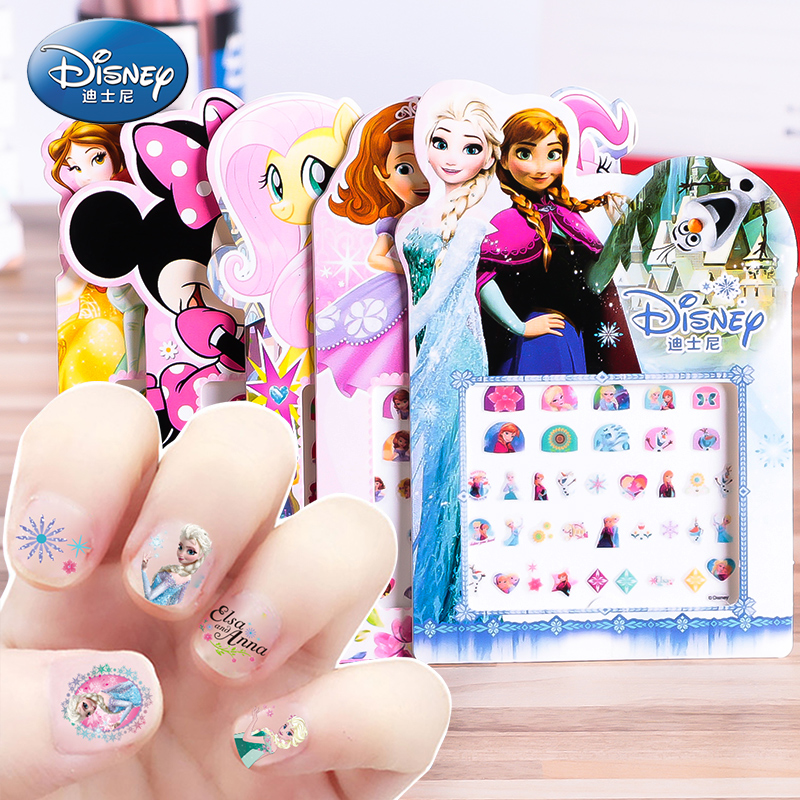 Disney Frozen Elsa  And Anna Makeup Toy Nail Stickers Toy  Princess Girl Sticker Toys For Children Small Gift Fashion Toys
