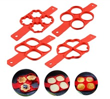 4pcs/Lot Fried Egg Mold Pancake Maker Silicone Forms Non-stick Simple Operation Omelette Kitchen Accessories