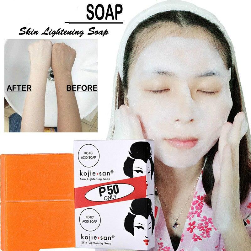 Handmade Whitening Soap Skin Lightening Soap Bleaching Kojic Acid Glycerin Soap Brighten   Deep Cleaning Brighten Skin