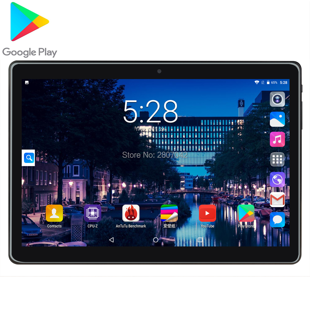 Free Shiping 2020 Android 7.0 OS 10.1 Inch Tablet Quad Core 2GB RAM 32GB ROM 1280*800 Dual SIM Cards Tablet 10.0 2.5D