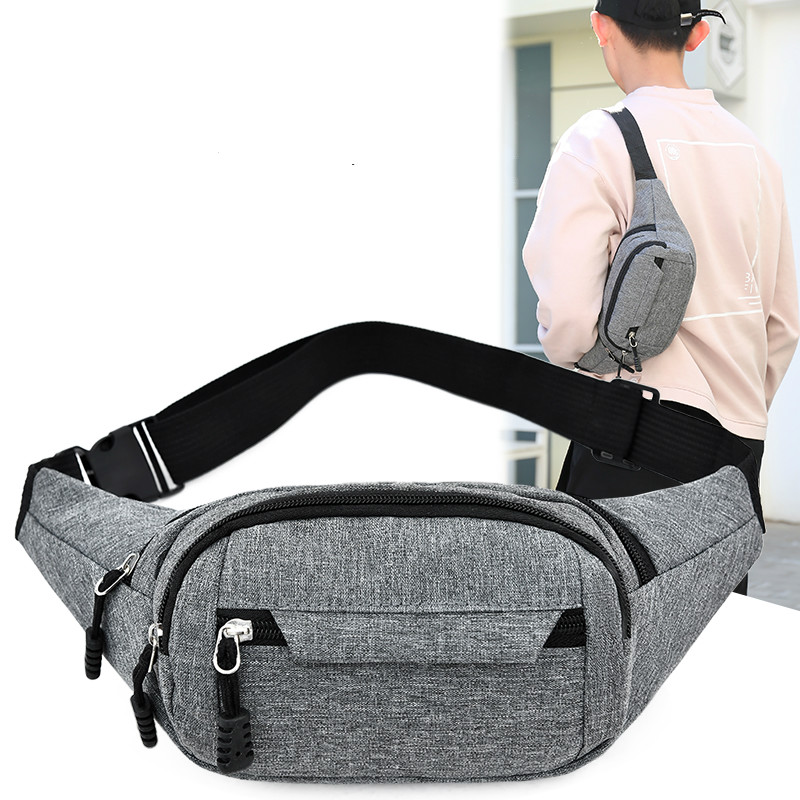 Men And Women Fanny Pack New Fashion Waist Bag  Sports Multi-functiona Large Mobile Phone Bag Money Belt Bag