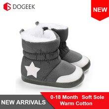DOGEEK/0-18 месяцев, зимние пинетки для маленьких девочек и мальчиков, пинетки для малышей, зимние сапоги для новорожденных, теплая нескользящая обувь на мягкой подошве, модная обувь, не пачкается