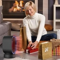Ceramiczny ogrzewacz pomieszczeń mały elektryczny ogrzewacz ptc przenośne biurko termowentylator Tip-Over i ochrona przed przegrzaniem dla Home Office 600W ue