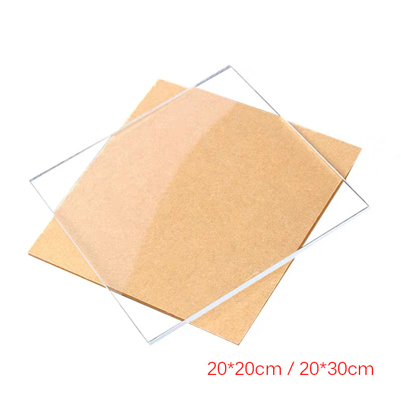 5PCS 1mm Thick Square Acrylic Clear Perspex Sheet Cut Plastic Transparent Board Perspex Panel Durable Doors And Signage Decor