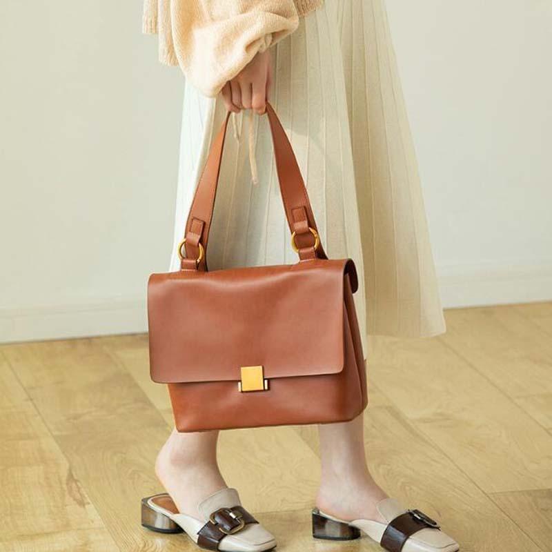 Fashion Women Bag Soft Genuine Leather Shoulder Bag Korean Dress Cowhide Handbags Crossbody Quality Bag Handbag Purse