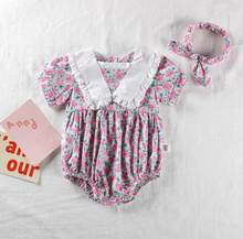 Baby Girls Sweet Rose Lace Bodysuits, Princess Litter Kids Sweet Romper, 5 Pieces/lot(China)