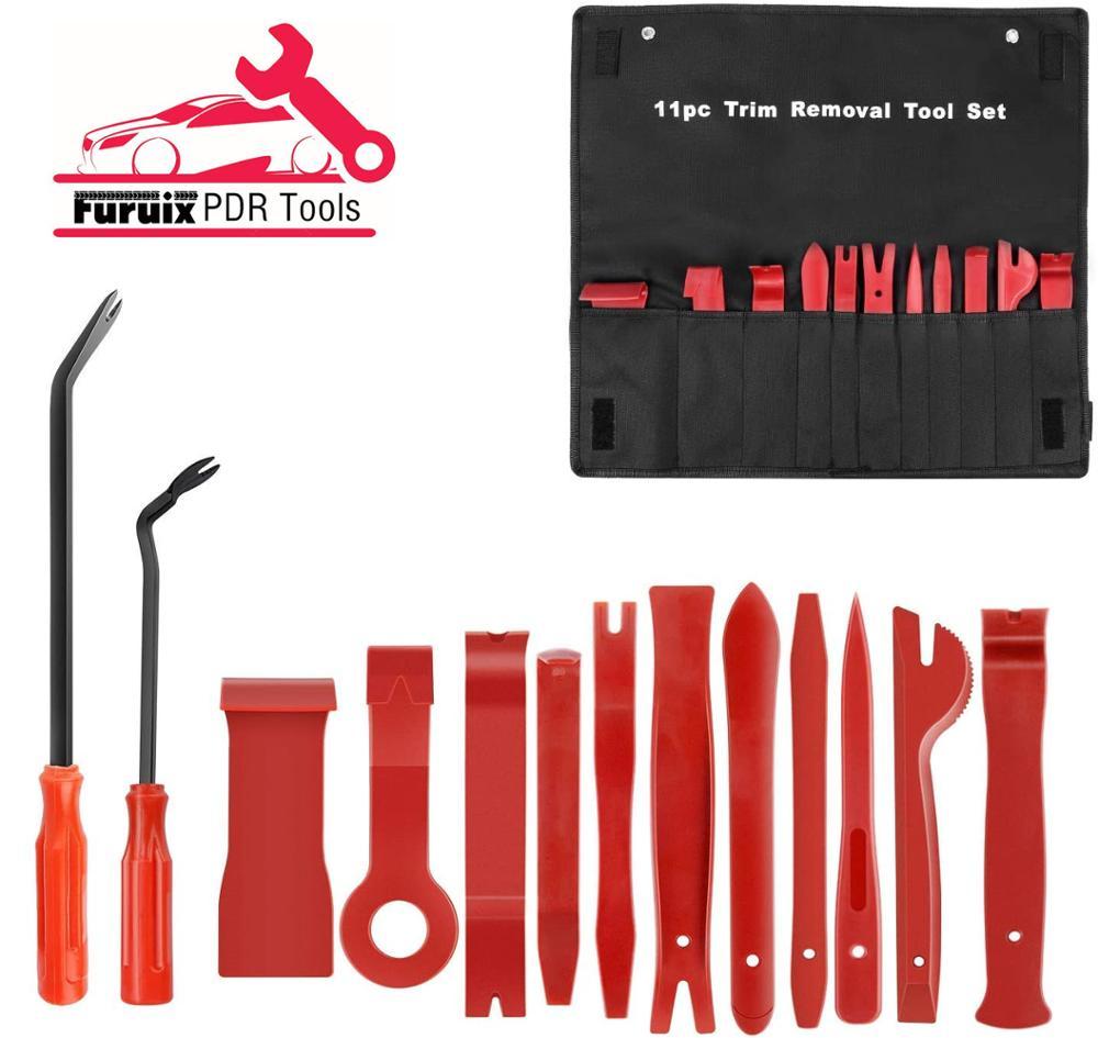 4/5/7/12/13 Pcs Car Audio Maintenance Kit Auto Trim Repair Panel Remover Pry Bar Car Dash Radio Door Trim Panel Clip Hand Tools