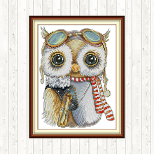 Cute Owl DMC Embroidery Cross Stitch Kit 14CT 11CT Counted Printed on Canvas Aida DIY Chinese Cross-stich Needlework Hand Crafts