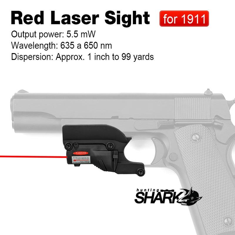PPT Горячая Тактический лазерный прицел для 1911 пистолет Красный лазерный прицел страйкбол пистолет для охоты HS20-0022