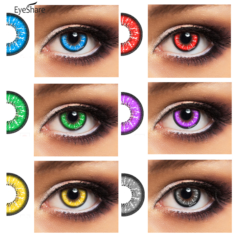 EYESHARE 2pcs/pair   Bella Series Cosplay Colored Contact Lens Cosmetic Contacts Lenses Eye Color Beautiful Pupil For Halloween