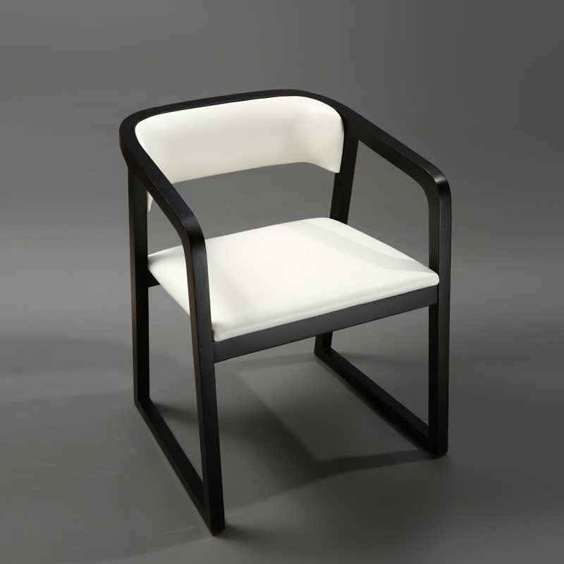 Chair Modern Minimalist Dining Chair Chair Solid Wood Home Hotel Restaurant With Armrests Office Nordic Chinese Stool