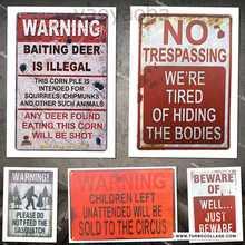 Advertencia de que los niños que quedan sin atención se venderá al cartel de la lata del circo cartel Retro de la placa del Metal de la vendimia para el café Bar Pub cerveza