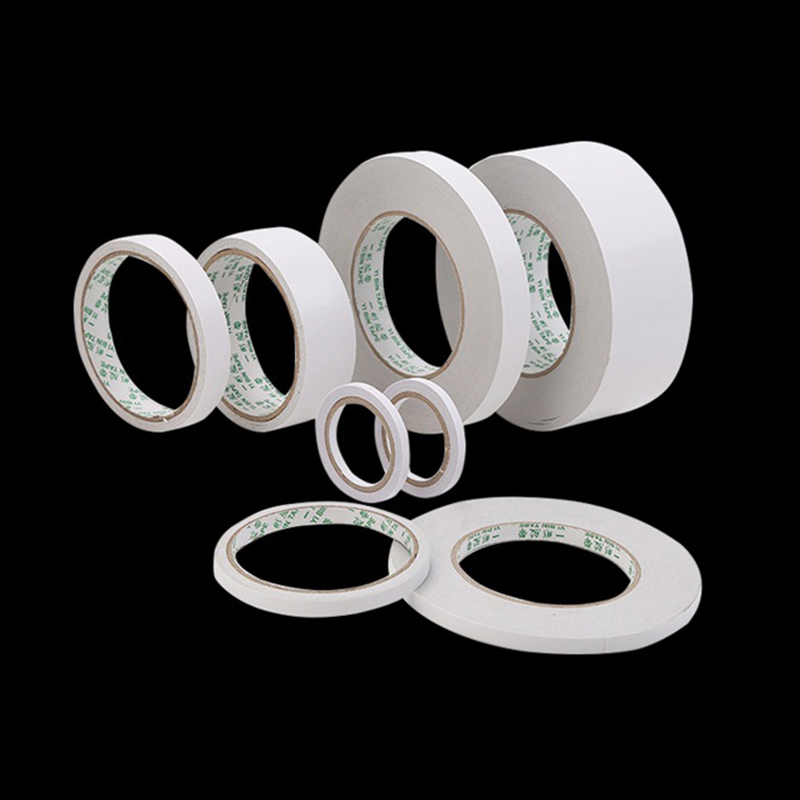 Long Length White Strong Ultra-thin High-Adhesive Double-sided Tape Paper 8m*5/ 8/ 10/ 12/ 15 /18/20 Mm