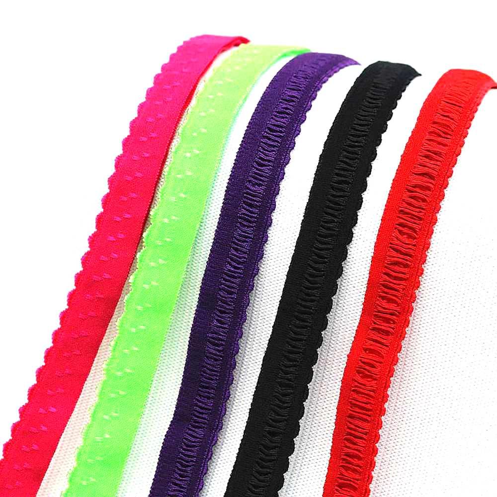 2m/set 1.2cm Width Promotion Shoulder Straps Women Bra Strap Accessories Edge Shoulder Tape Lace Elastic Band Trim Elastic
