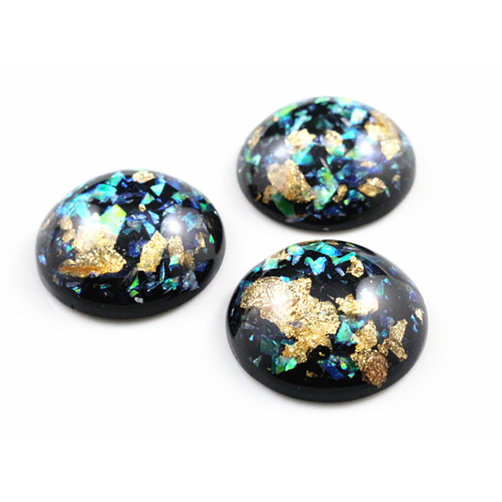 New Fashion 5pcs 25mm Black Color Shell Fashion Style Flat Back Resin Cabochons Cameo G3-21