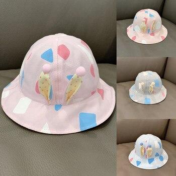 Baby Hat Cute Rabbit Ears Print Hats Fisherman Bucket Hat Sun Hat Nice Gift Outdoor Casual Fashion Cap fashion wifi signal pattern bucket hat for men
