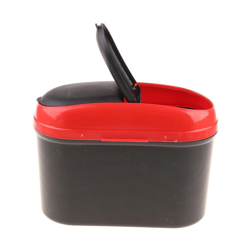 Mini Car Trash Rubbish Can Garbage Dust Dustbin Box Case Holder Bin Hook USA