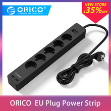ORICO Electronic Socket Outlet Power Strip Surge Protector With 2 USB Port Smart Charger EU Plug 3AC 5AC for Home Office usb power strip orico home office eu surge protector with 4 usb 20w charger 4 universal ac plug 2500w multi outlet charger