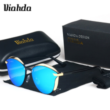VIAHDA Cat Eye Sunglasses Women Polarized Fashion lunette soleil femme Female Vintage Shades