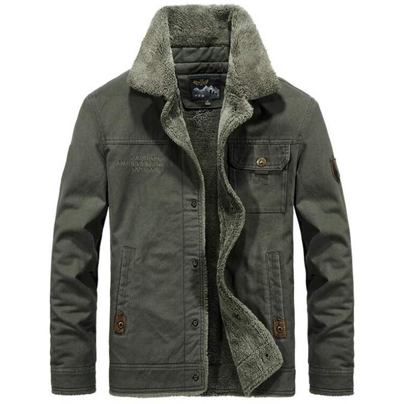 Winter Jacket Men Streetwear Military Uniform Heat Insulated Fleece Jacket Windbreaker Tactical Parka Trench Coat Bomber Clothes