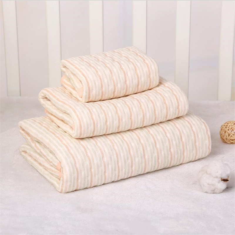 Natural Colored Cotton Double-sided Baby Mats Waterproof Reusable Sheet Infant Bedding Nappy Burp Mattress Changing Mat