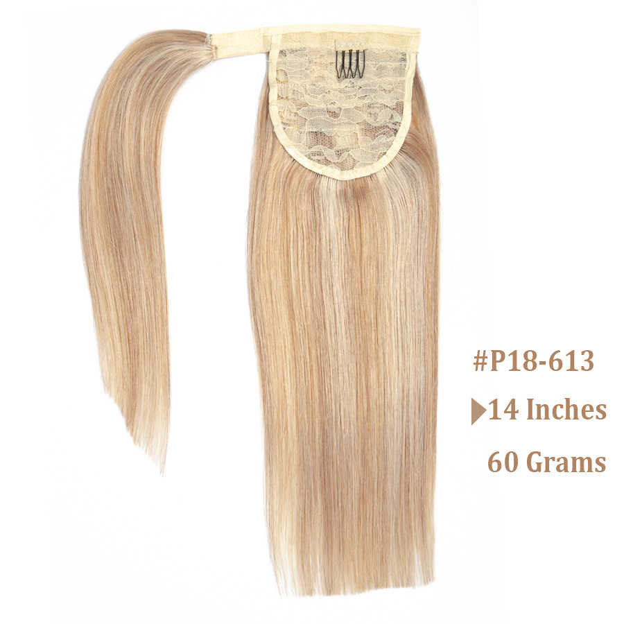 Mrshair Real Natural Human Hair Pony Tail Hair Extension Blond Haar Wrap Paardenstaart Clip In Hairextensions Machine Remy Haarstukje