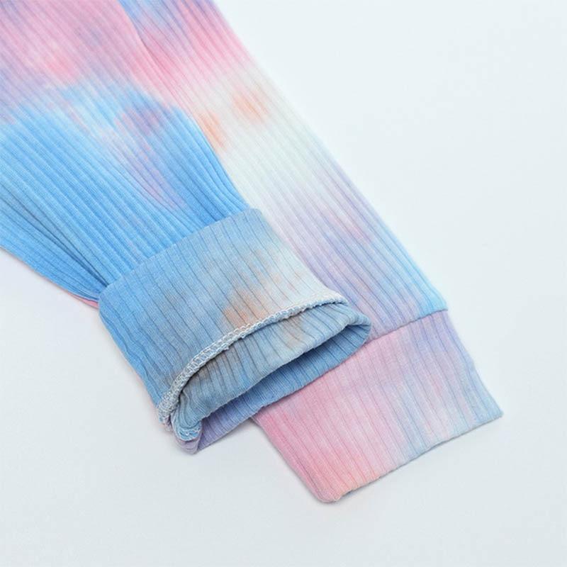 Boys Tie-Dye Suit Children Fashion New Casual Gradient Set Girls Dream Color Clothing Kids Spring Autumn Pajamas Home Wear 6