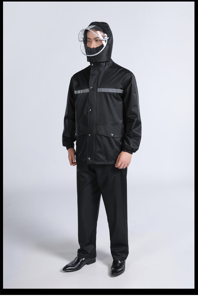 homens casaco de chuva moto moda portátil