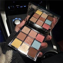 9 видов цветов, блестящие матовые тени для век, палитра с блестками, пигментированная Дымчатая гладкая палитра теней для век, водостойкая косметическая палитра для макияжа