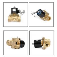 Areyourshop 1 AC 220V AC220V DC 12V 24V Heavy Duty Brass Electric Solenoid Valve Water Waterproof Normally Closed NC G1