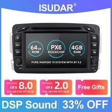 Isudar radio Multimedia con GPS para coche, radio con reproductor, DVR, 2 Din, Android 10, navegador, para Mercedes Benz CLK W209 W203 W208 W463 Vaneo Viano Vito