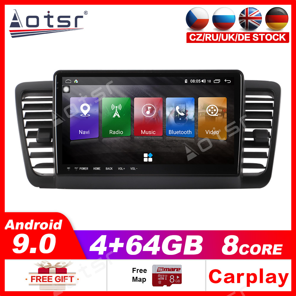Android 9.0 32GB/64GB Car GPS Stereo radio For subaru legacy 2003-2009 Radio Tape Recorder Head unit Car Multimedia Player IPS image