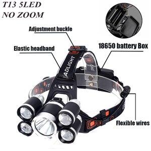 Image 3 - Litwod Z25 головной светильник 3/5 светодиодный T6 налобный фонарь для рыбалки и охоты светильник ing велосипедный светильник вспышки светильник фонарь Фонари светодиодный лампы