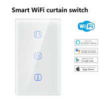 Smart House Home WiFi Curtain Switch Electrical Touch Blinds Curtain Switch Panel Wireless Intelligence Control Google Home