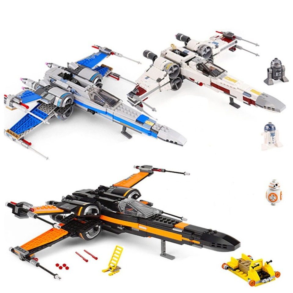 Compatible Legoinglys Star Wars Order Poe's X Toys Wing Fighter Building Block Bricks Educational Gifts StarWars 75101 75102